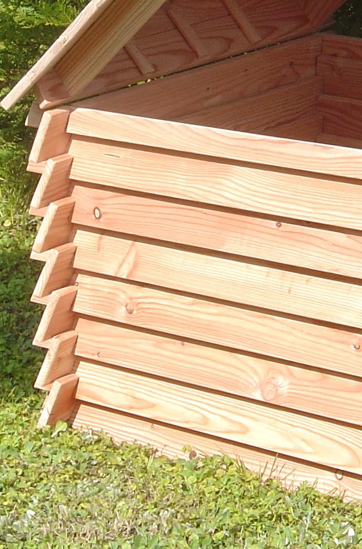Sichtzäune Aus Holz : komposter spreewald mit deckel 90 x 90 x 70 cm l rche ~ Watch28wear.com Haus und Dekorationen
