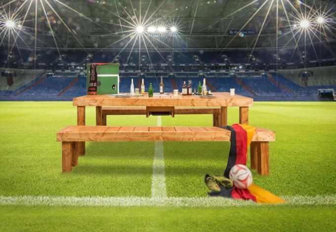 """Selbst ist der Mann - """"Grilltisch und Bank"""" Material (Holz) für 1 Tisch und 2 Bänke"""