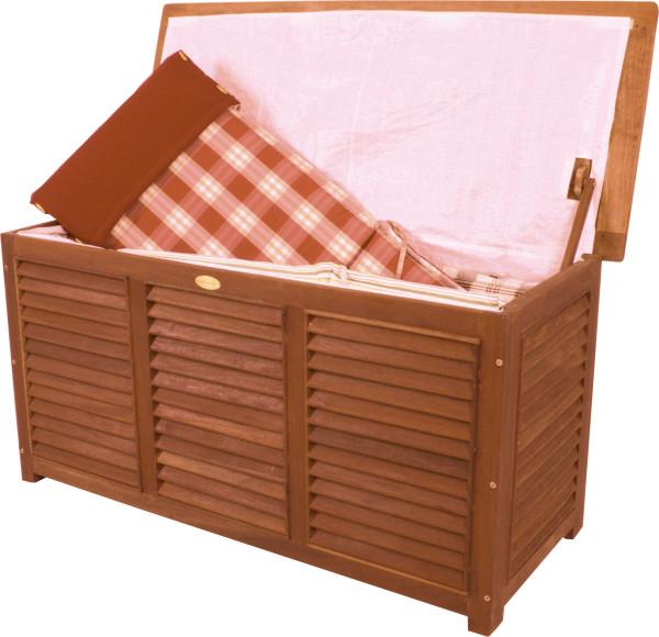 Auflagenbox aus Bangkiraiholz