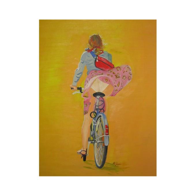 Die Radfahrerin
