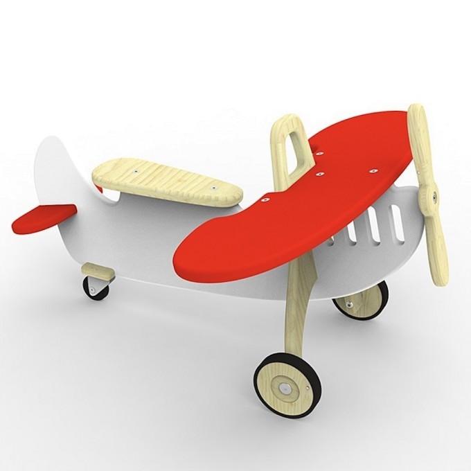 Flugzeug auf Rollen Marc rot