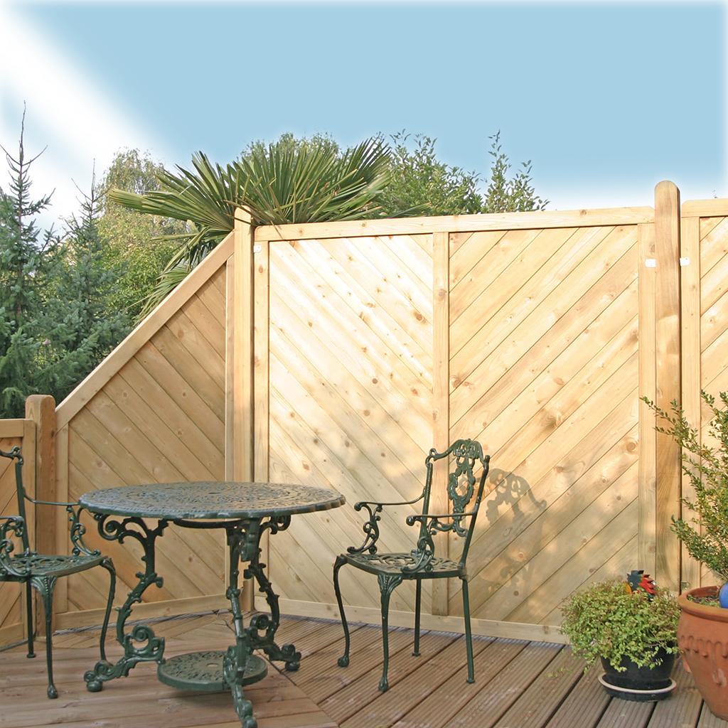 Zaunreihe aus Stabil Massiv Zäunen Hochwertiger und robuster Zaun