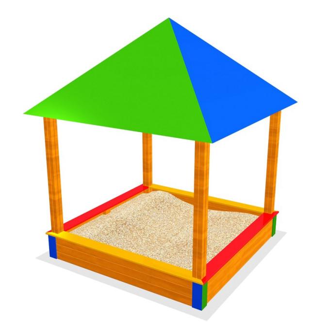 Sandkasten Henry mit Dach 200 x 200 x 190 cm