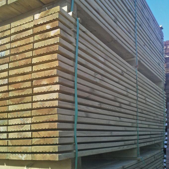 PALETTE Terrassenholz Konstruktionsholz 28 x 145 x 2400 mm