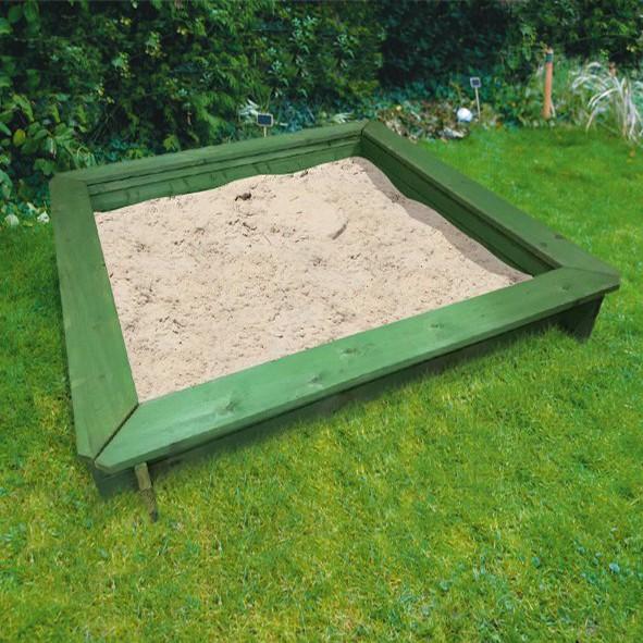 Sandkasten Ole 180 x 180 x 30 cm - grün