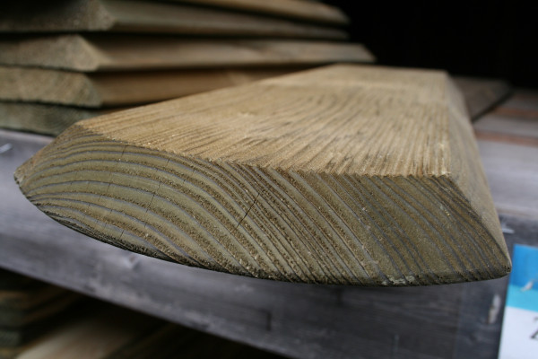 Zaunbretter Rhön, geriffelt. 23 x 170 mm versch. Längen, kesseldruckimprägniert