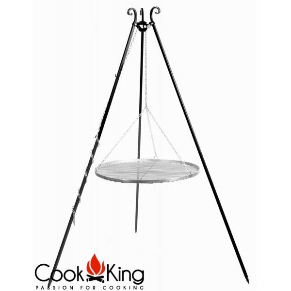 Cook King Schwenkgrill gerade mit Rost aus rostfreiem Edelstahl