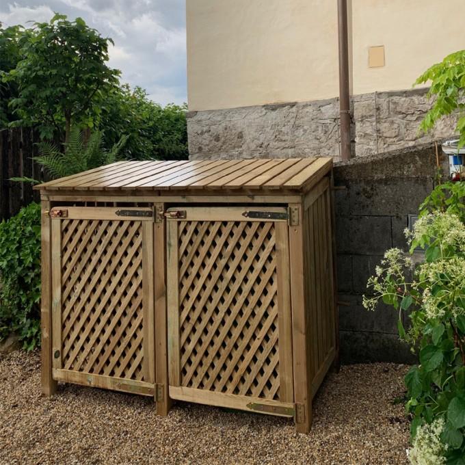 Mülltonnen - Doppelbox Baltrum - Kundenfoto