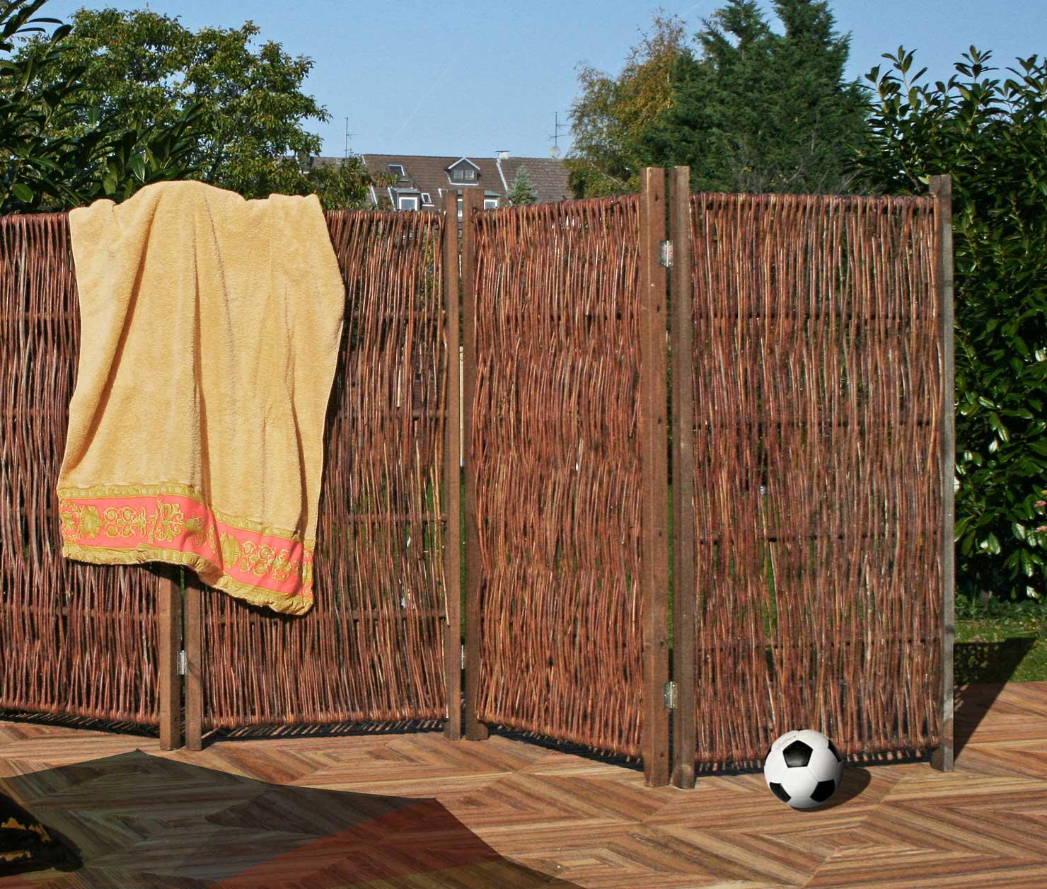 paravent aus weiden - 240 x 120 cm, Garten ideen gestaltung