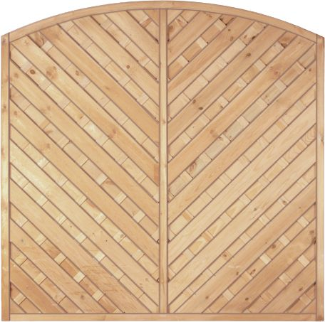 Diagonal-Dichtzaun mit Bogen 180 x 160/180/160 cm