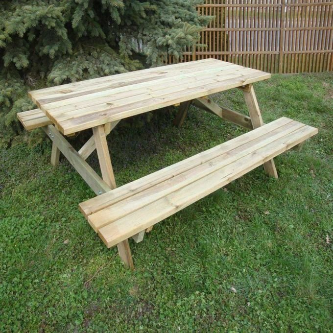 Picknicktisch, Fichte