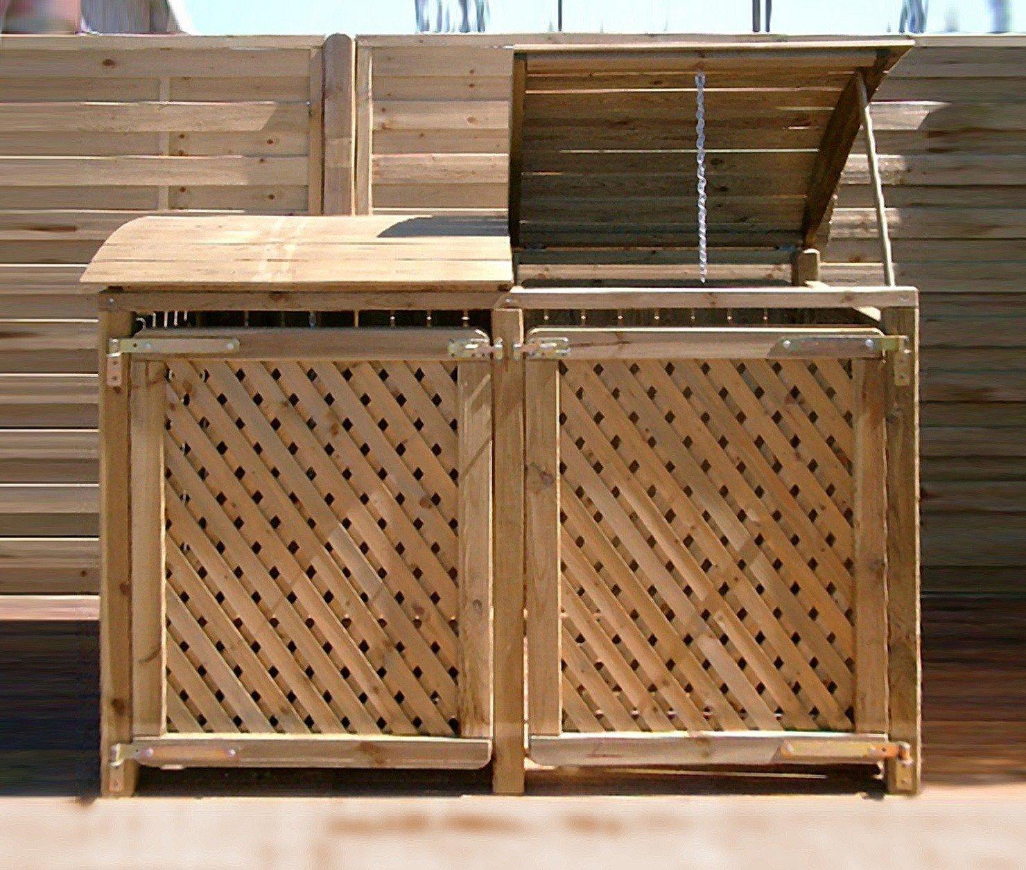 m lltonnenbox f r zwei tonnen 240 liter. Black Bedroom Furniture Sets. Home Design Ideas