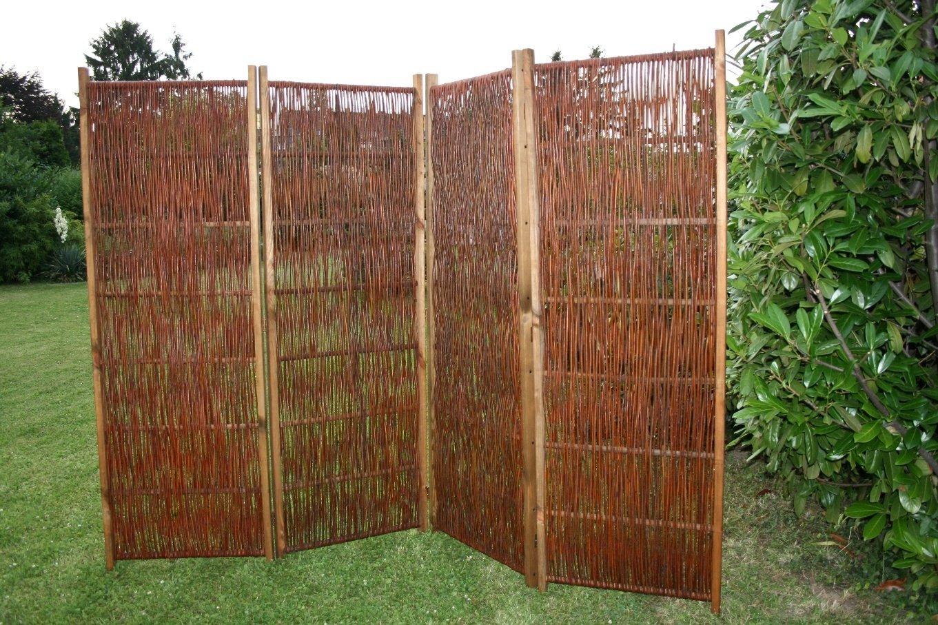 Paravent aus Weiden 240 x 180 cm