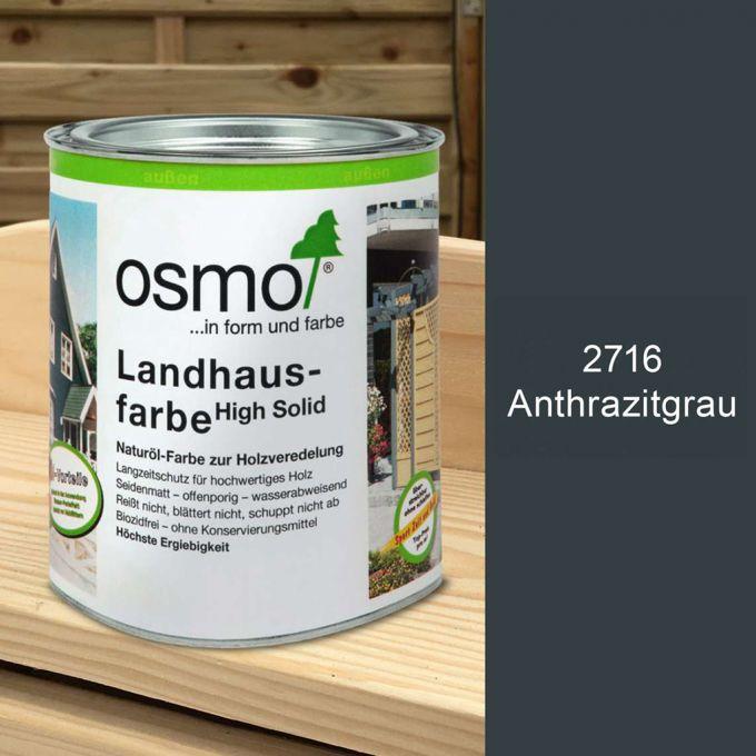 Osmo Landhausfarbe 2,5l Anthrazitgrau
