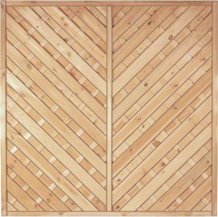 Diagonal Dichtzaun 180 x 180 cm