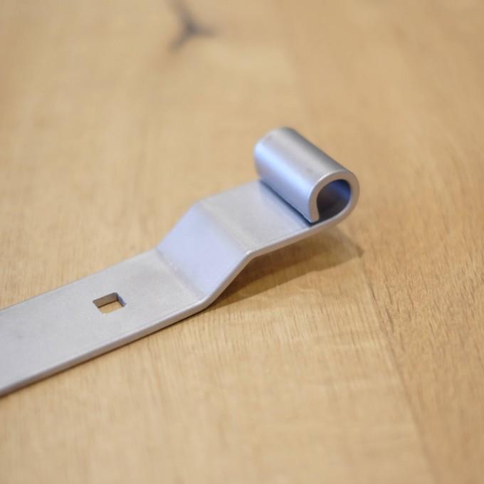 Ladenband halbschwer, 13 mm Rolle, Edelstahl