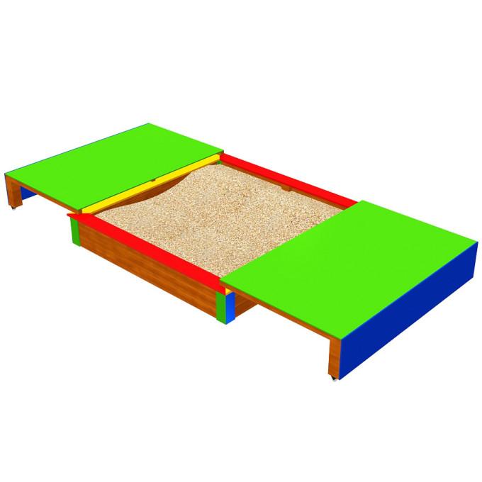 Sandkasten Liam mit ausziehbarem Deckel - Zeichnung