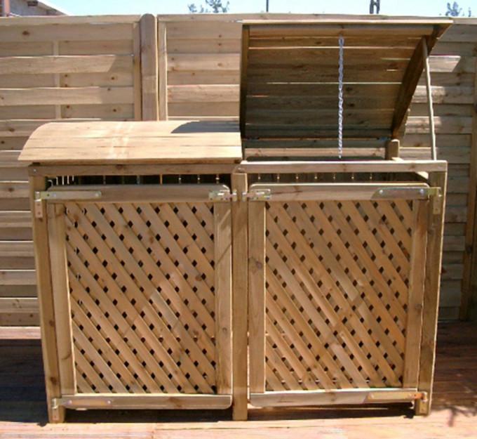 Mülltonnenbox für zwei 120L-Tonnen