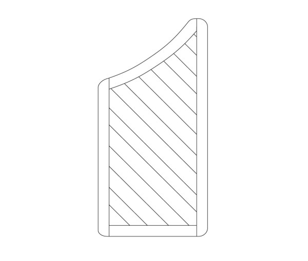 Zaun Siena Diagonal, Stufenblende