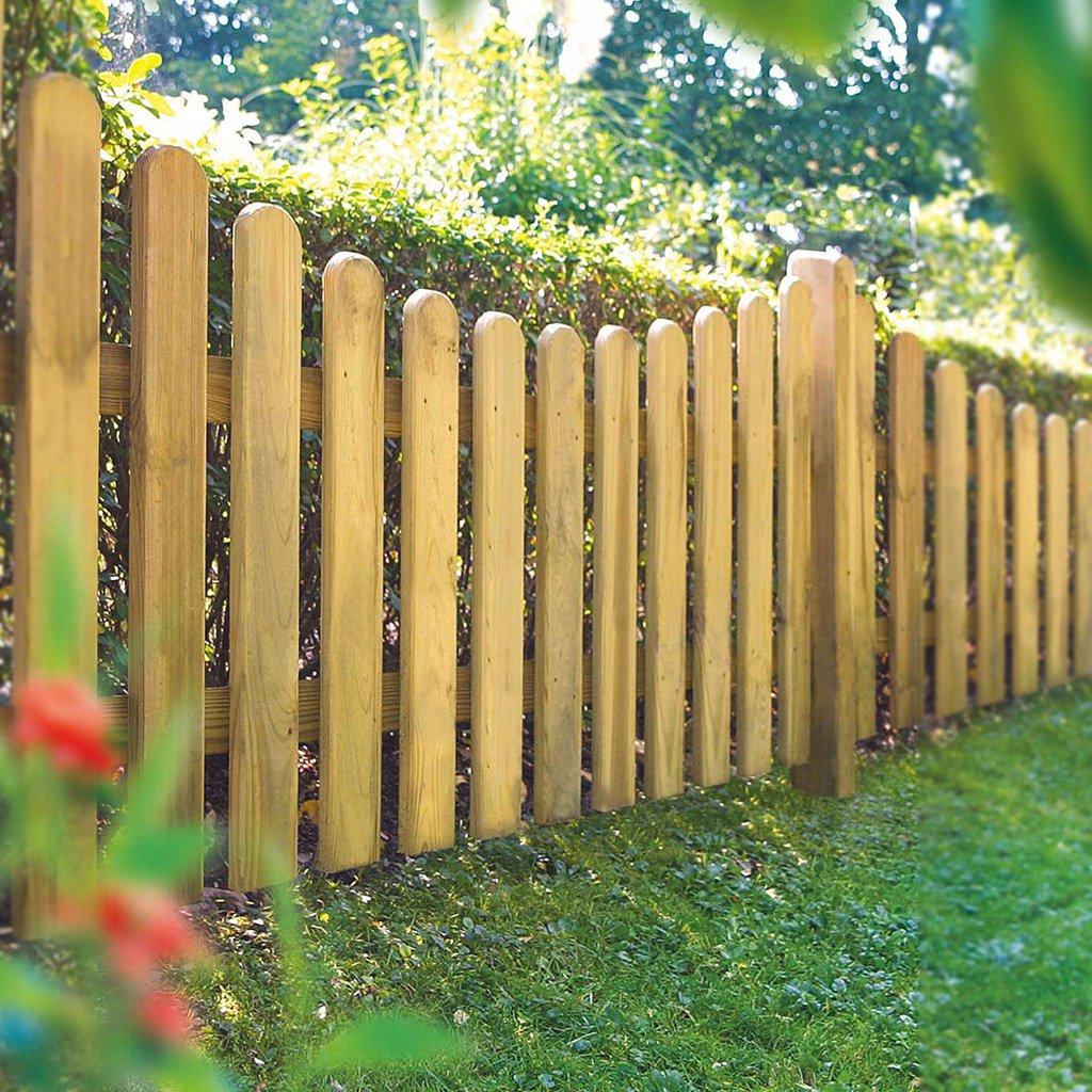staketenzaun rund - 180 x 80/65/80 cm