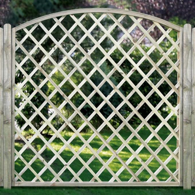 Diagonal-Rankgitter mit Bogen - Maschenweite 10 cm