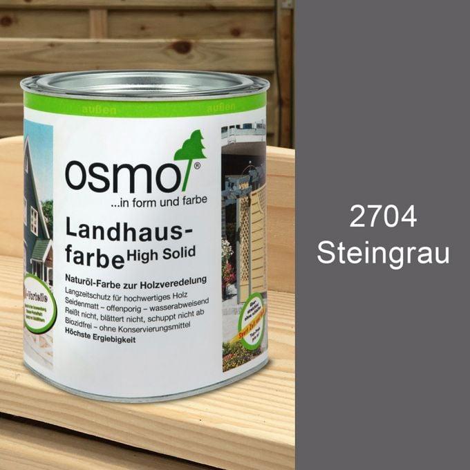 Osmo Landhausfarbe 0,75l Steingrau