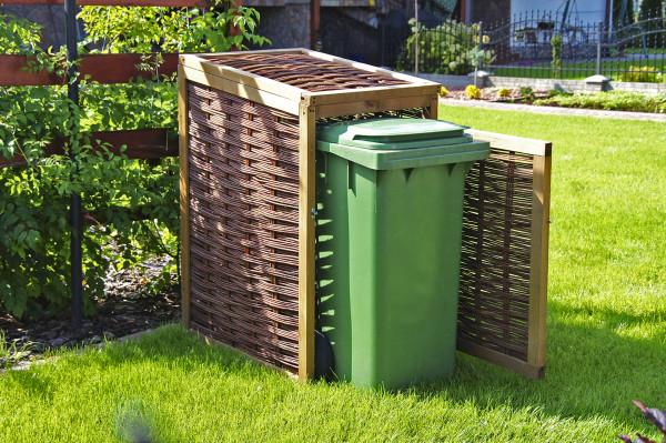 Mülltonnenbox für Einzeltonne 60 x 80 x 105/115 cm für 120 L Tonne