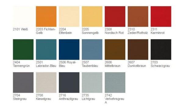 OsmOsmo Landhausfarbe 0,75l  - Farbpalette