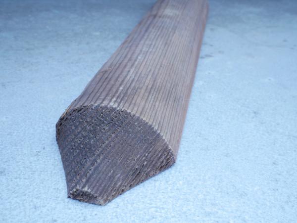 gekegelte Staketen 6 cm stark, kesseldruckimprägniert braun