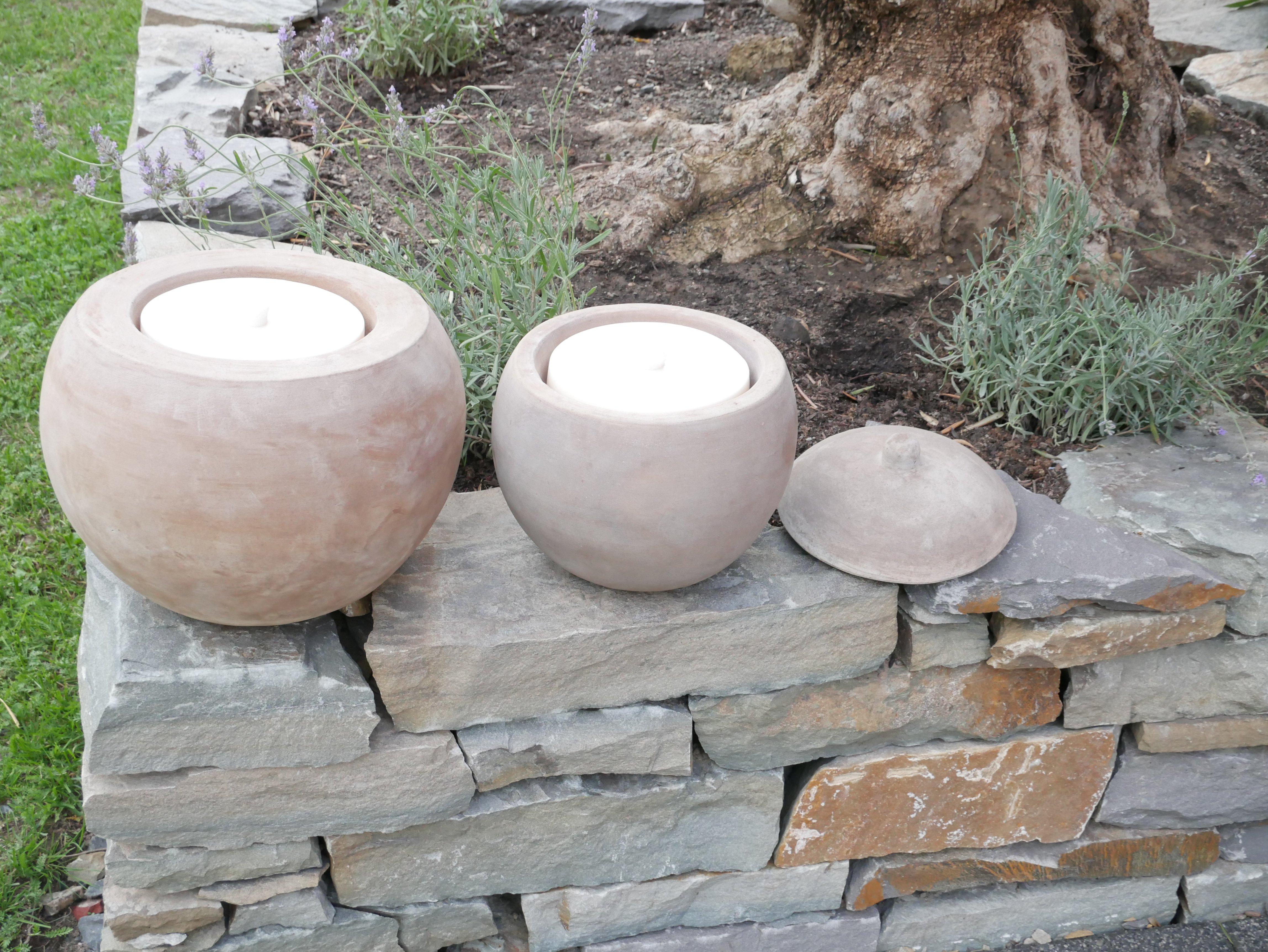 Wachseinsatz f r terracotta kugel for Gartendeko terracotta