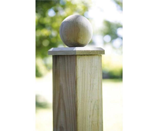 Pfostenabdeckung Holz, Kugel
