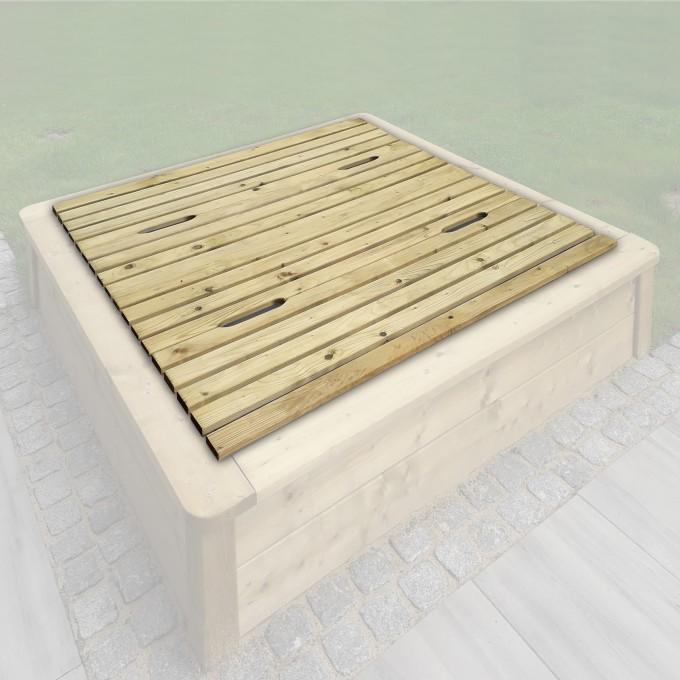 Deckel 4- teilig für Sandkasten Paula