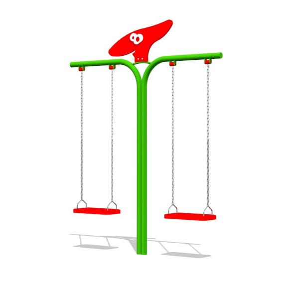 Schaukel DRAGON mit roten Sitzbrettern