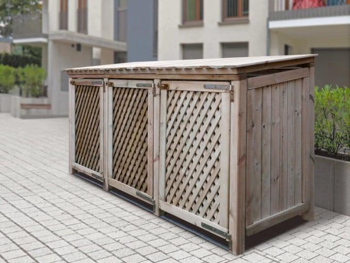 Baltrum - 3er Mülltonnenbox