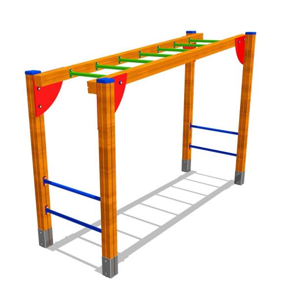 Hangelleiter aus Holz und Metall 300 x 100 cm