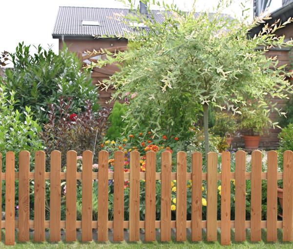 Abb.zeigt ähnlichen Zaun in Lärche