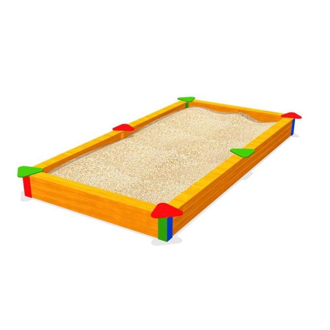 Bunter Sandkasten aus Kiefernholz 300 x 200 cm